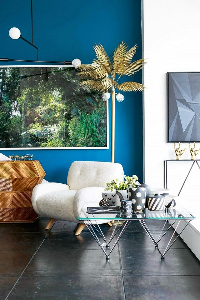 1000 ideas about blue accent walls on pinterest blue for Palm tree living room ideas