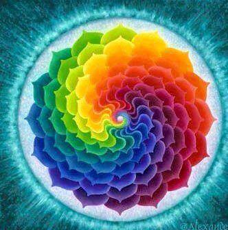 Mandala Pattern spiral rainbow colors