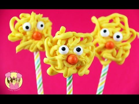 EASTER CHICK POP - Chicken Pops - Easy and cute easter treat
