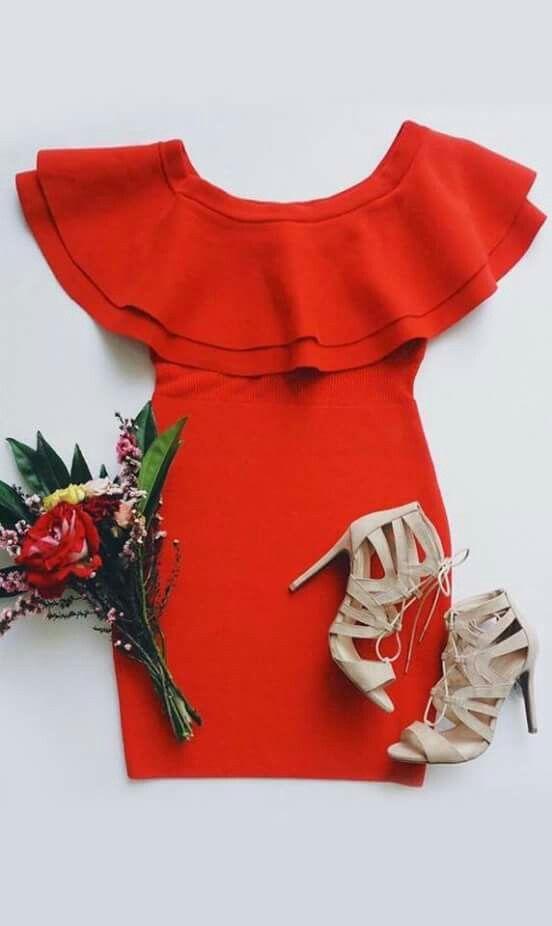 Vestido rojo sexi