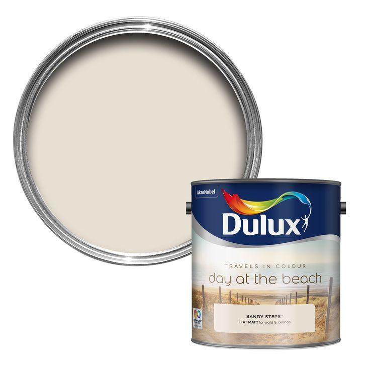 Dulux Travels In Colour Sandy Steps Cream Flatt Matt Emulsion Paint 2.5L | Departments | DIY at B&Q