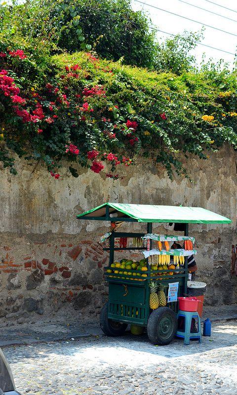 Guatemala, how about fruit (mango, watermelon, pineapple, coconut, papaya) or veggies (cucumber, radishes) with lemon, salt, and chilly powder?