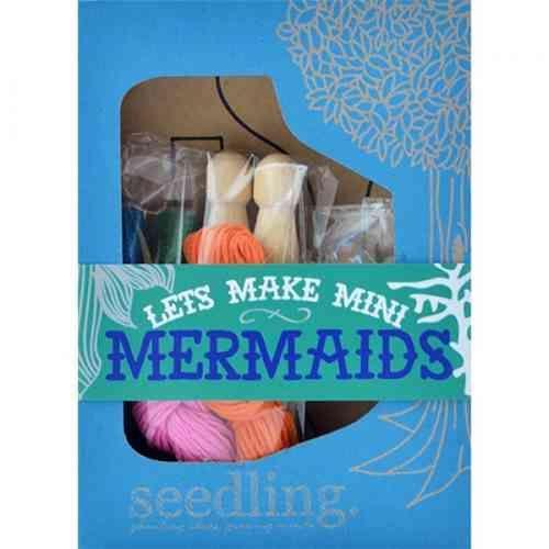 Lets Make Mini Mermaids - Make Your Own Peg Doll Kit - White Apple Gifts