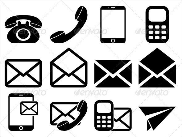 Contact Us Icons Set Contact Icon Vector Contact Icons Png Contact Icons For Business Cards Conta Free Graphic Design Contact Icons Vector Graphic Design Fonts