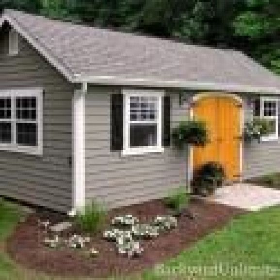 12 X20 Garden Shed With Lap Siding Ridge Vent Gable Vent Pine Tongue And Groove Rounded Wood Doors And Window Trim Outdoorwood Shed Outdoor Wood Simple Shed