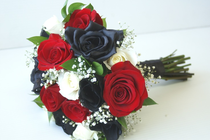 red and black wedding bouquets black and white bridal bouquet wedding 6990