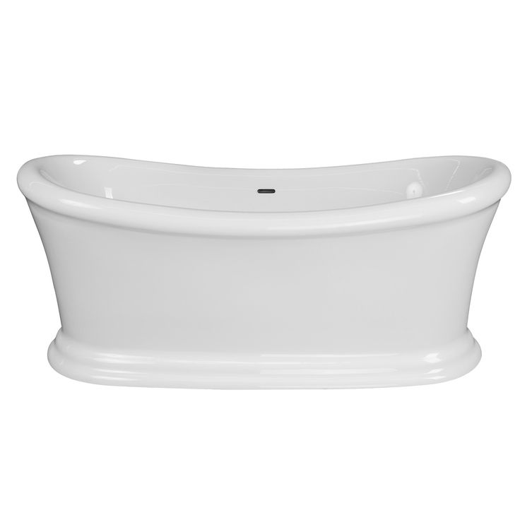 """The 67"""" Ida Freestanding Bathtub is a double slipper pedestal tub that is constructed out of high quality acrylic material. The double slipper styling allows for you to fully lay back and enjoy soaking on either end of this bathtub."""