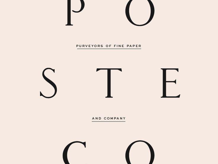 Poste & Co.  by Stitch Design Co.  #Design Popular #Dribbble #shots