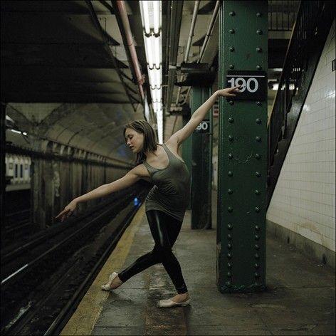 Ballerina Project, New York City subway.