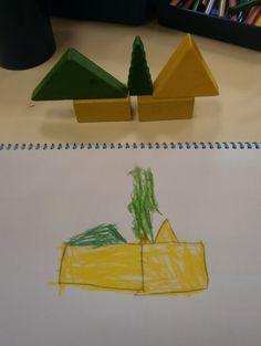 LA CLASE DE MIREN: mis experiencias en el aula: JUEGOS DE LÓGICA-MATEMÁTICA: DIBUJAMOS TORRES DE CONSTRUCCIONES