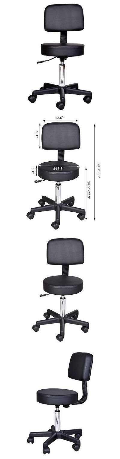 Salon Chairs and Dryers: Salon Stool Spa Tattoo Equipment Clinic Chair Facial Beauty Pu Leather Massage -> BUY IT NOW ONLY: $42.99 on eBay!