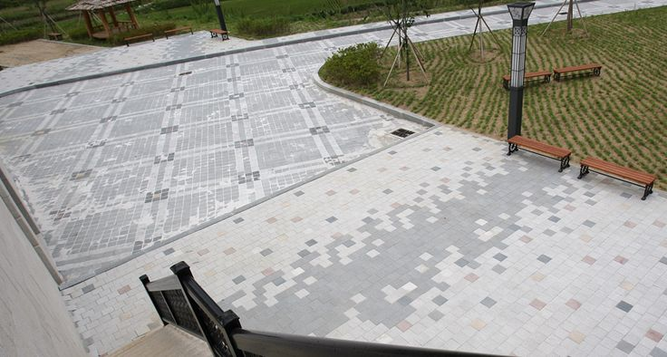 문경 구랑리역 보도블록 시공, 에코청진, 네오스톤블록, 보도블럭