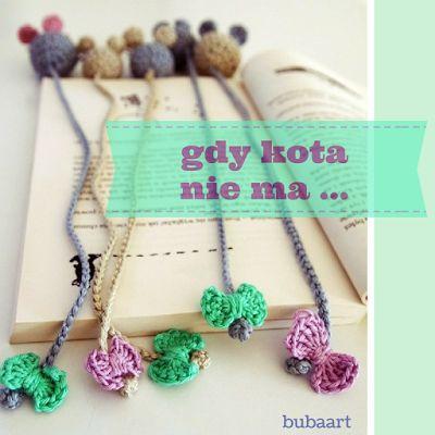 BUBAart Crochet Bookmark, crochet, szydełko, zakładka