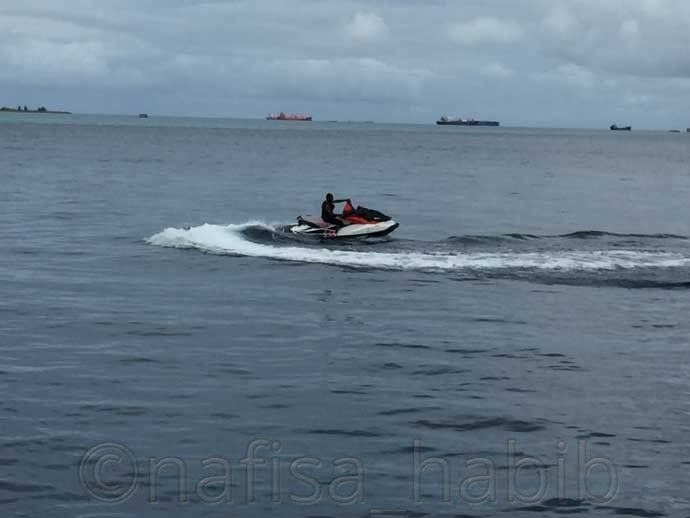 Jet Skiing in the Maldives - #JetSkiing at #hulhumale took 45$ for 30 minutes. It is fun indeed. Hulhumale is best for any water activities fun. Adventure in Hulhumale you'll definitely love and enjoy. https://myownwaytotravel.com/solo-travel-in-the-maldives-on-budget/ #maldives #watersports