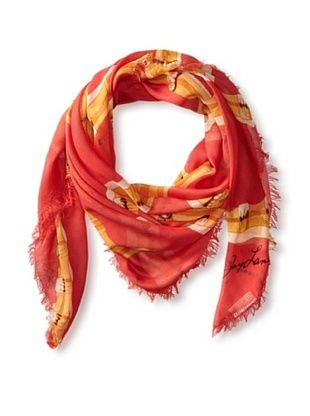62% OFF Kenneth Jay Lane Women's Bamboo Square Scarf, Coral Multi