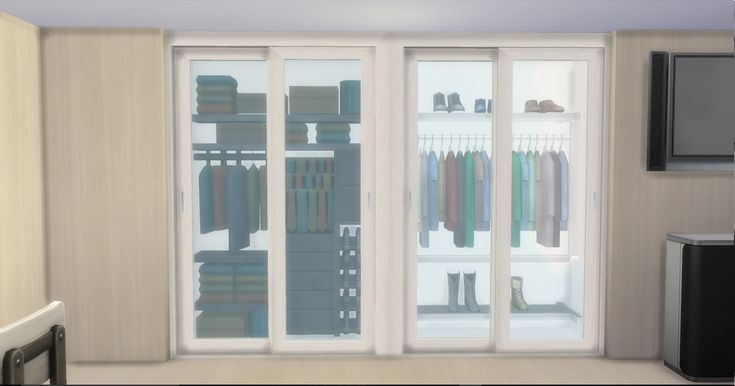 A set of modern wardrobe for modern houses