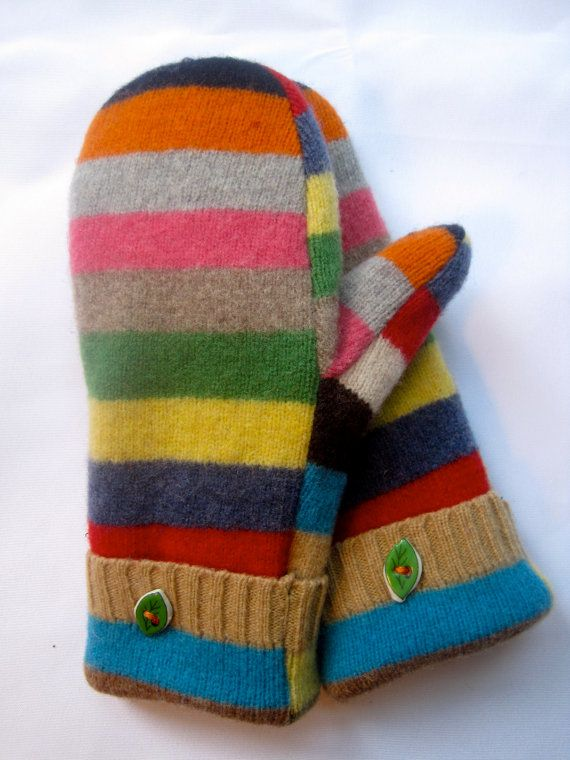 Striped Sweater Mittens