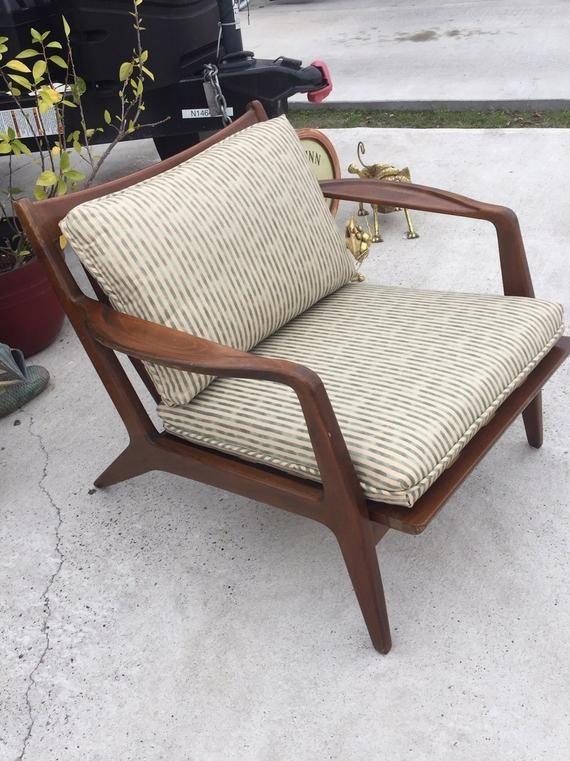 Vintage Danish Mid Century Modern Lounge Chair Selig Kofod La