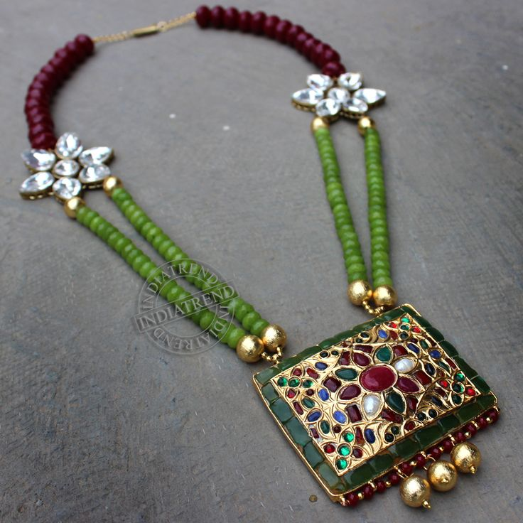 Alvira Necklace by Indiatrend. Shop Now at WWW.INDIATRENDSHOP.COM