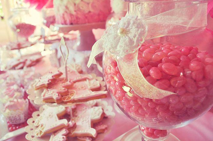 Pink FairyTale Baby Shower or Birthday Party ideas via Kara's Party Ideas KarasPartyIdeas.com #fairytalepartyideas #pinkparty #decor #cake (...