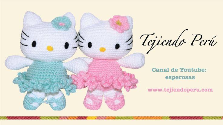 Hello Kitty tejida a crochet (amigurumi)  Parte 1: cabeza