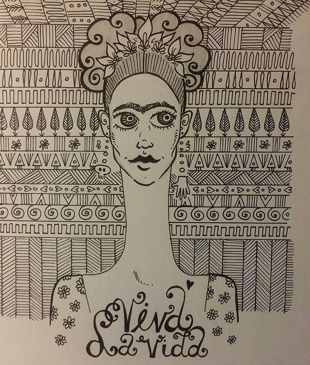 #doodleartist #doodleart #fridakahlo #frida #lovefridakahlo #fridamania #pannalurysuje
