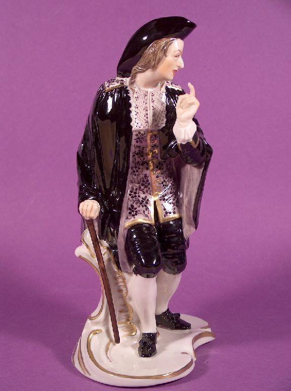 Rarität Nymphenburg Porzellan Figur Anselmo Commedia dell´Arte Bustelli