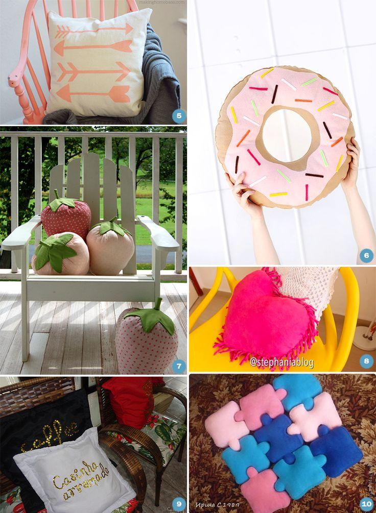 DIY: 10 almofadas criativas e divertidas para decorar a casa toda - Casinha Arrumada