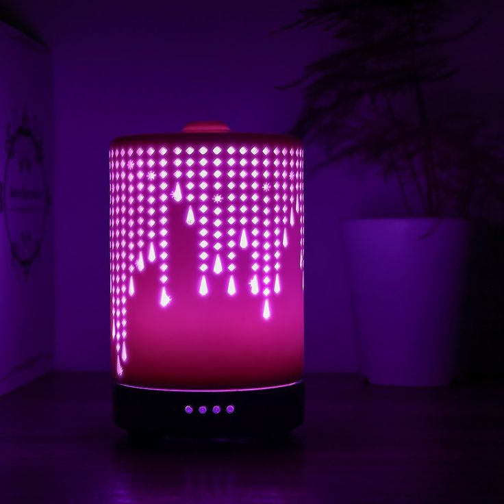 Colorful Night Light Function Aromatheraphy Atomizer With Adopted Ultrasonic Technology Desktop Size Quiet Mist Maker With 4 Timer Sets