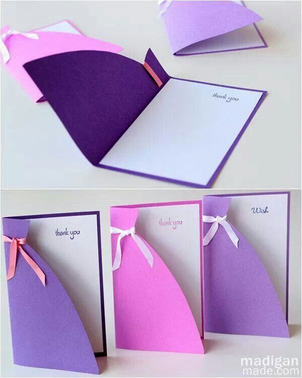 Tarjeta ideal para bodas (damas de honor) - Love this DIY card idea for bridesmaids
