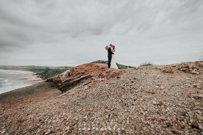 Hannah & Alex   Long Reef Headland - Bride and groom
