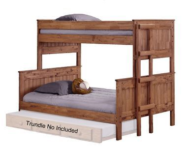 Chelsea Home 312009-450 Twin Over Full Stackable Bunk Bed Mahogany Stain