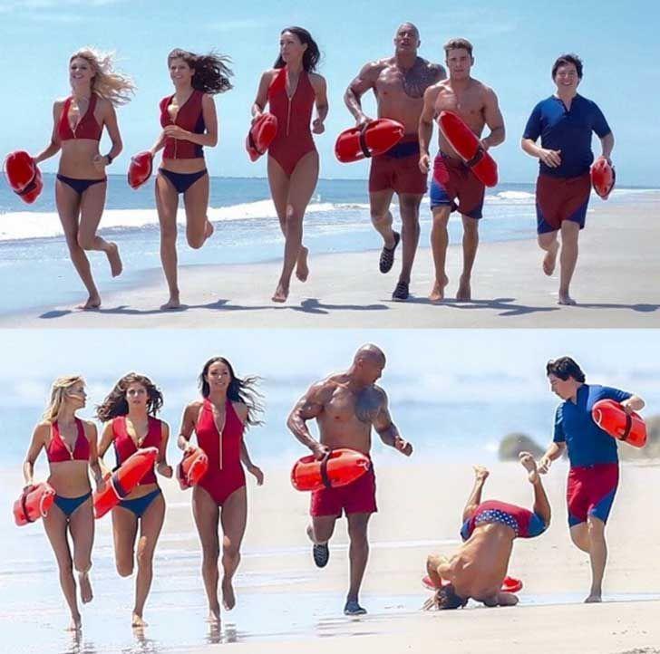 La caída de Zac Efron en Baywatch abrió el apetito de los photoshopeadores. Mira los geniales memes