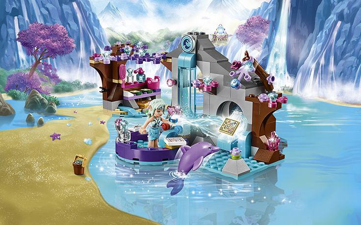 [✓]  LEGO ELVES: Naida's Spa Secret.  Figures included: Naida the Water Elf and her dolphin friend, Delphia. Released March 2015