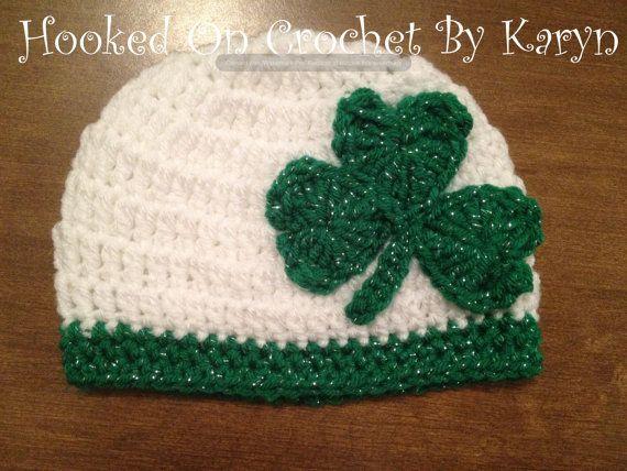 Girls Irish St. Patrick's Day Crochet Hat by HookedOnCrochetKaryn, $18.00