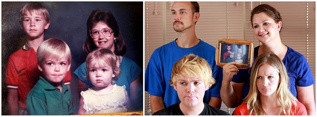 Things to do while at a family reunion ... reenact out old family photos!!