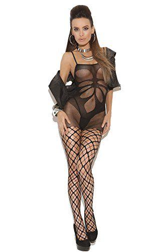 COSIVIA Women Sexy Floral Shade Mesh Body Stocking with Pothole Legs * Find out more about the great product at the image link.