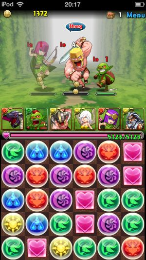 Puzzle and Dragons - Clash of Clans    3.75 Million Dollars a Day in Revenue. Crazy.