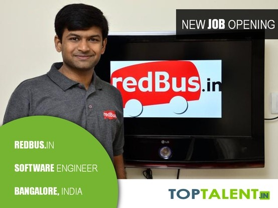 redBus.in was voted as one of the Top 50 most innovative companies in the world. So, here is your chance to make an impact. redBus.in is hiring Software Engineers (UI) with 0-3 years experience in Bangalore.  Please apply with your resume and cover letter at http://www.toptalent.in