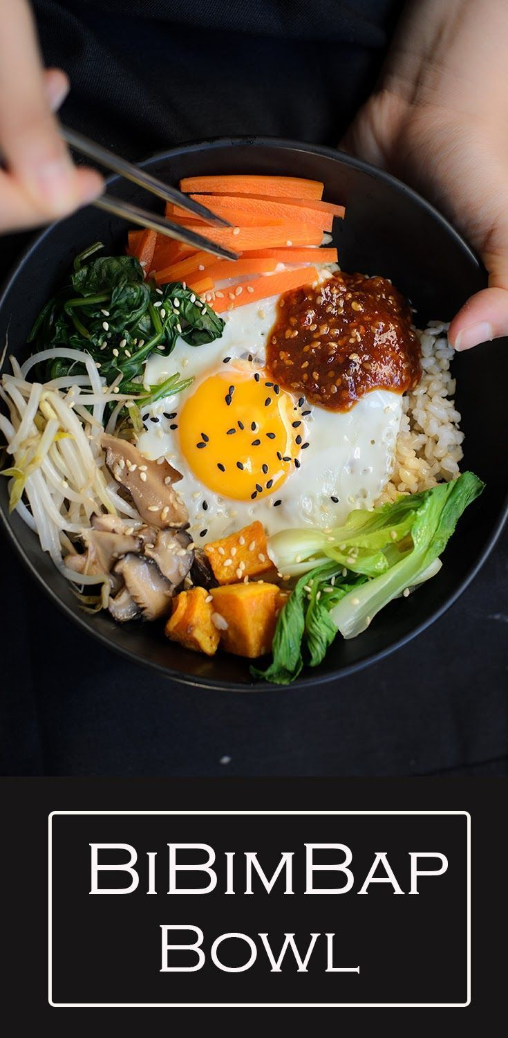 Healthy vegetarian version of Korean mixed rice known as Bibimbap. Serve with hot and spicy bibimbap sauce.