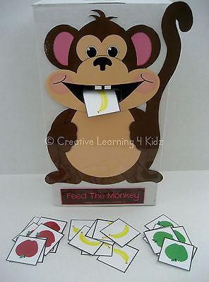 FEED THE MONKEY Activity - Autism Speech ABA Therapy PECS Could DIY