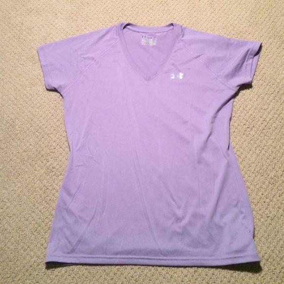 Under Armout HeatGear Tee Purple Under Armour Semi-Fitted Heat Gear Tee Under Armour Tops Tees - Short Sleeve
