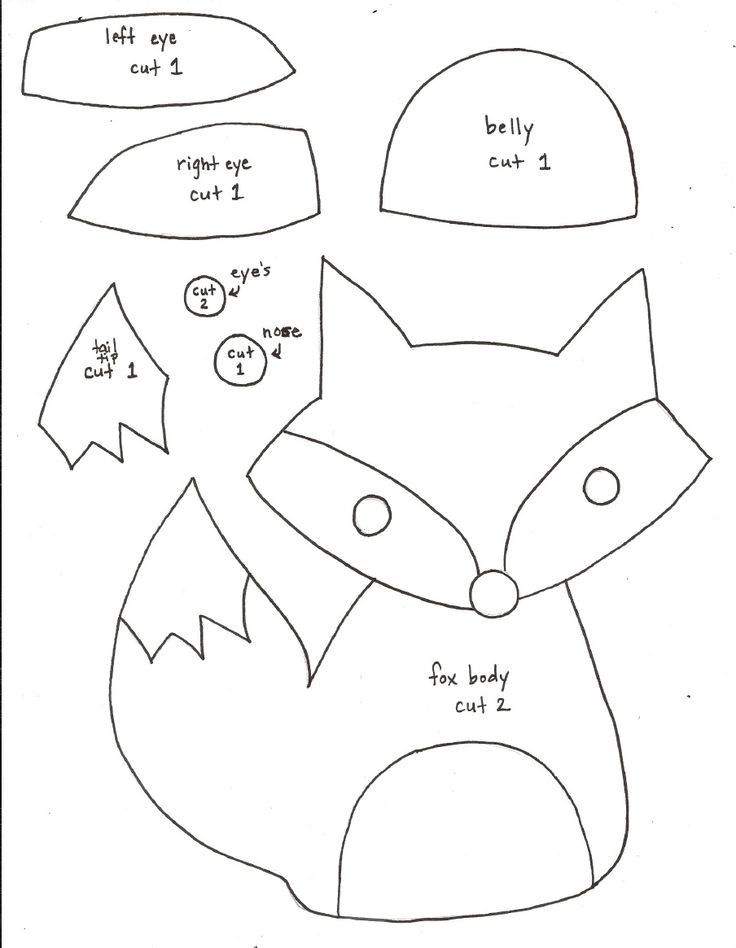 Fox Softie Pattern - templates only (can't download without Scribd account, but…