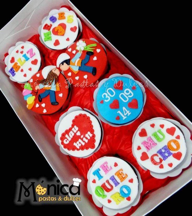Ingenieros enamorados  cupcakes , con detalles unicos en ella, elaborado por MONICA PASTAS Y DULCES