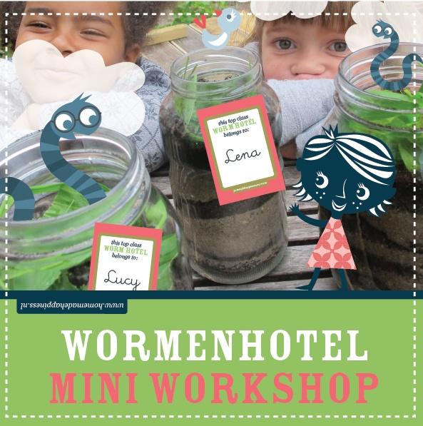 Wormenhotel: leuke knutsel voor een kinderfeestje met kleine onderzoekers. foto-tutorial + gratis labels *freebie*