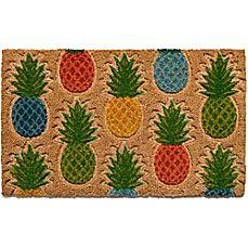 image of Pineapple Pattern18-Inch  X 30-Inch Coir Door Mat