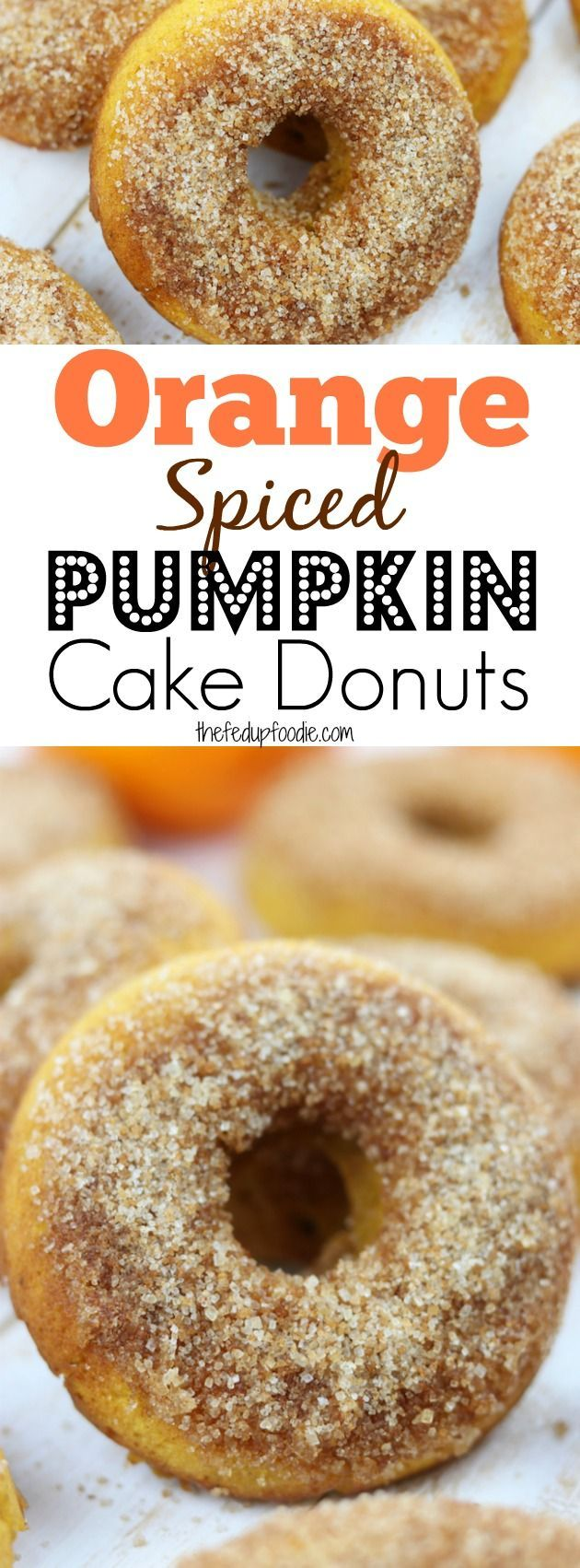 Orange Spiced Pumpkin Cake Donuts is an easy, family favorite recipe that will delight your taste buds. Hints of refreshing orange are nestled in fluffy pumpkin cake and top with cinnamon sugar. Made with healthy ingredients, this is one of the best baked donuts ever! https://www.thefedupfoodie.com