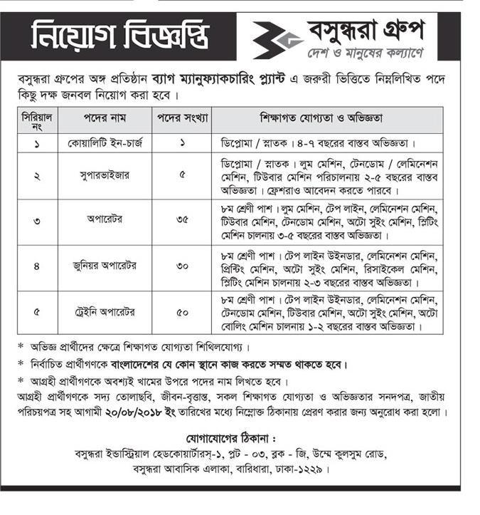 Bashundhara Group Jobs Circular 2018 Job Circular Job Circular
