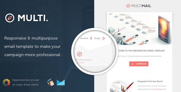 MultiMail - Responsive Email Template  #themeforest