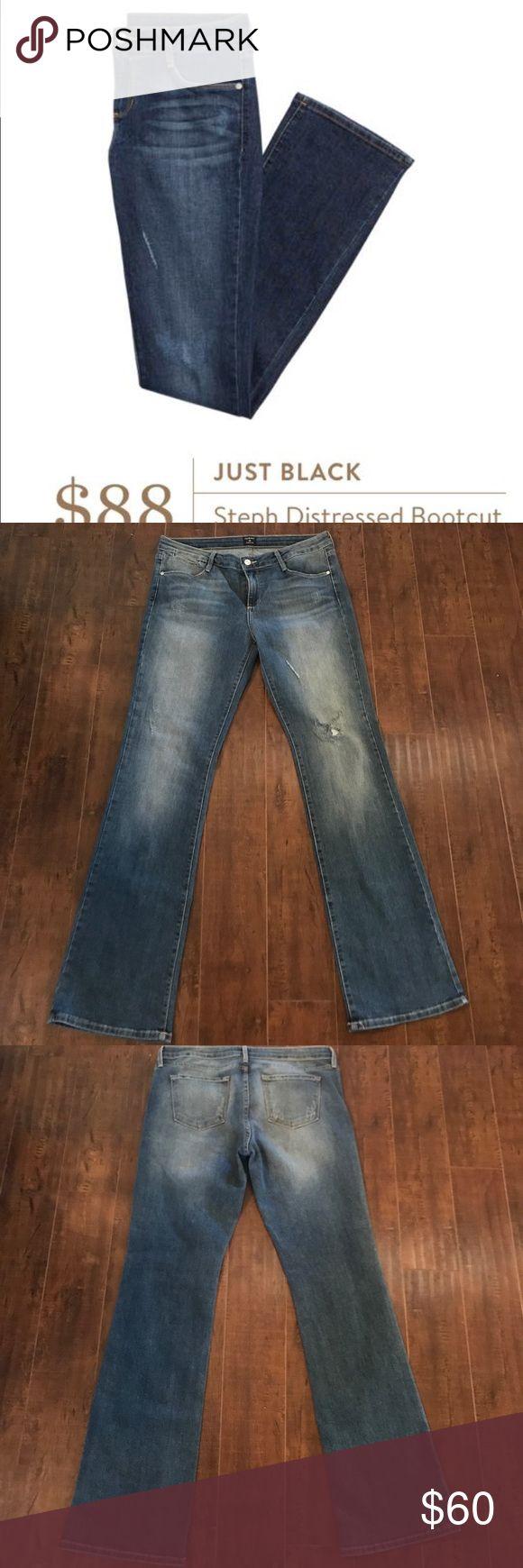 NWOT Stitch Fix Steph Distressed Just Black Jeans NWOT, bought via Stitch Fix, smoke free home. Just Black Steph Distressed Bootcut Jeans. Just Black Jeans Boot Cut